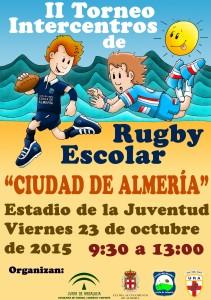 Cartel II Torneo Intercentros de Rugby Escolar  Ciudad de Almería